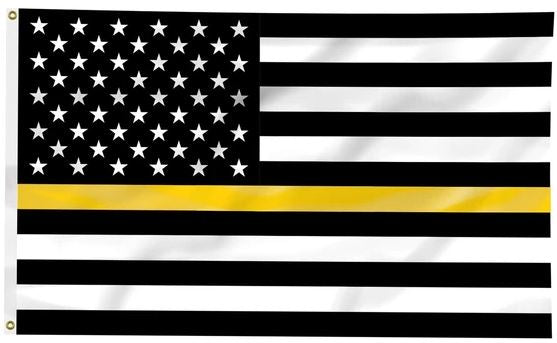 Thin Gold Line Flag with Grommets| 3x5