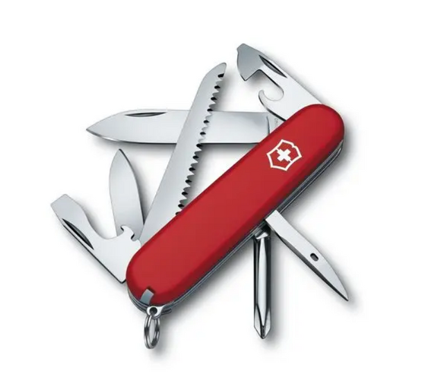 Hiker Swiss Army Knife in Red