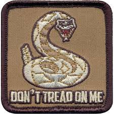 Don't Tread On Me Patch Velcro | Black trim