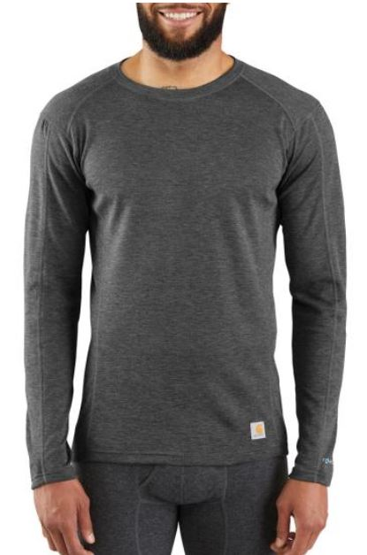 Carhartt Heavyweight Poly Wool Thermal Long Sleeve Crew | Charcoal Grey