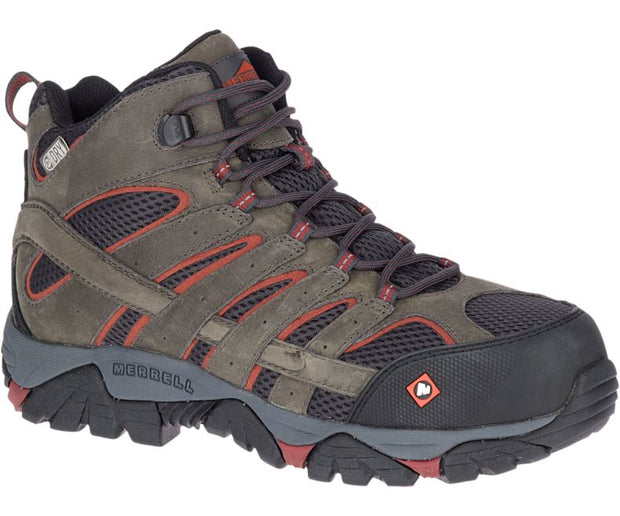 Merrell Men's Moab Vertex Mid Waterproof Comp Toe Work Boot