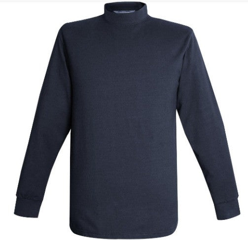 Flying Cross Mock Turtleneck | Navy