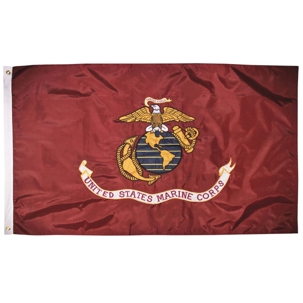Marine Corps Double Sided Embroidered Flag | Multiple Sizes