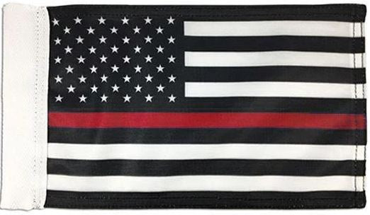 "Thin Red Line Motorcycle Flag - 6"" x 9"""