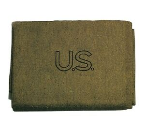 US Made Wool Blanket | Olive Green