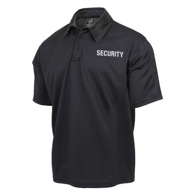 Moisture Wicking Security Public Safety Polo Shirt | Black
