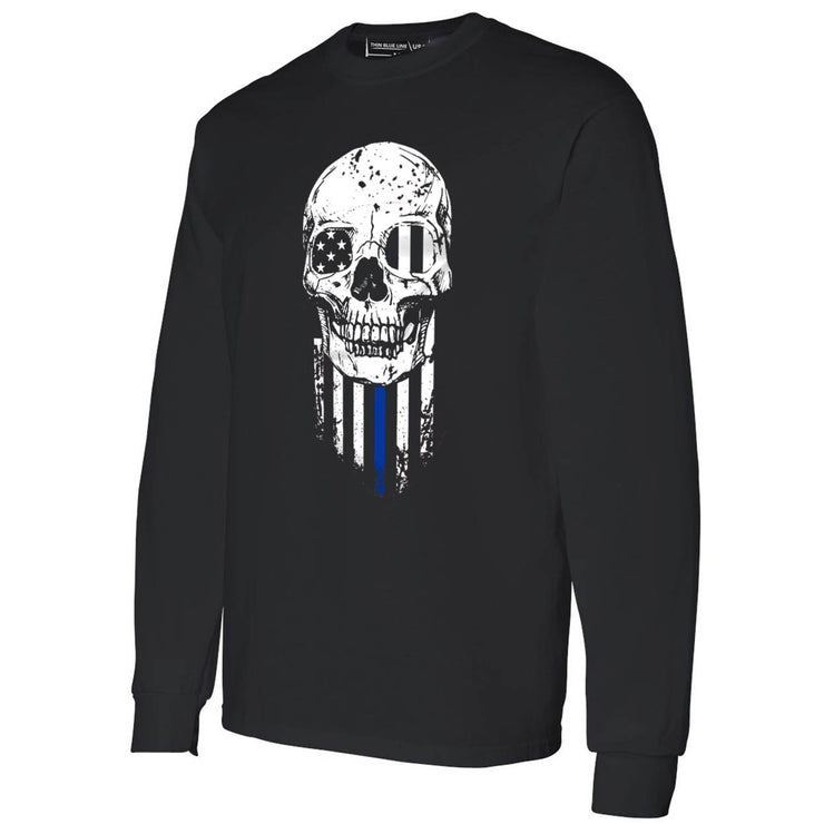"Thin Blue Line ""Skeleton"" Long Sleeve Shirt"