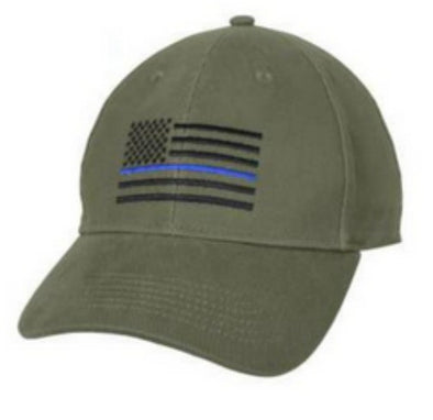 Thin Blue Line Hat Olive