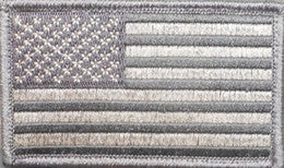 Flag Patch Velcro | Light Grey