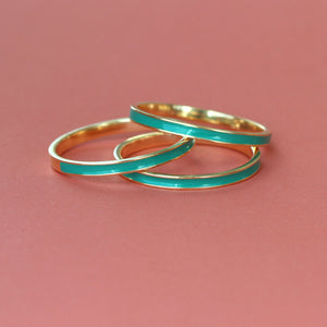 Enamel Stacking Ring Set of 3