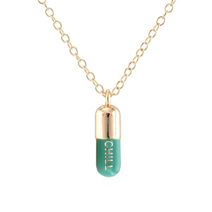 Chill Pill Charm Necklace New Colors!