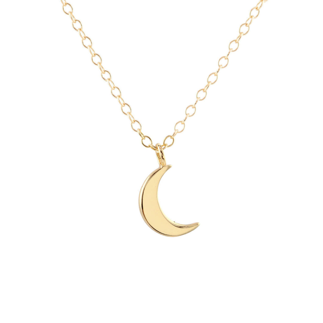 New! Crescent Moon Charm Necklace