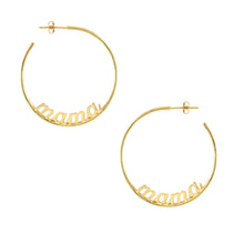 Load image into Gallery viewer, Mama Hoop Earrings