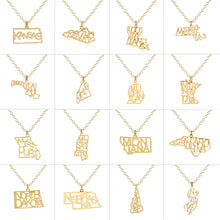 Load image into Gallery viewer, State Pride Charm Necklace - Gold