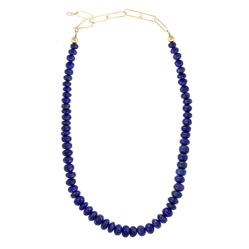Blue Lapis Bead Strand Necklace