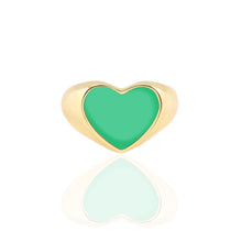 Load image into Gallery viewer, Heart Enamel Signet Ring New Colors!