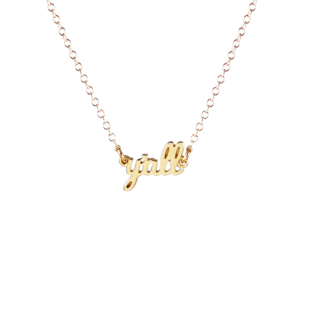 Y'all Charm Necklace