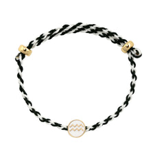 Load image into Gallery viewer, Zodiac Enamel Charm Adjustable Rope Bracelet
