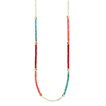 Load image into Gallery viewer, Color Block Smiley Heishi Beaded Necklace