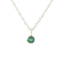 Load image into Gallery viewer, Gemstone Charm Necklace - Emerald