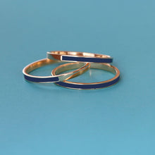 Load image into Gallery viewer, Enamel Stacking Ring Set of 3