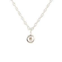 Load image into Gallery viewer, Gemstone Charm Necklace - Pearl