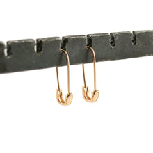 Load image into Gallery viewer, Safety Pin Hoop Earrings