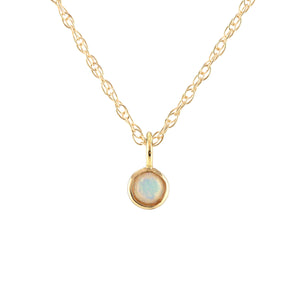 Gemstone Charm Necklace - Opal