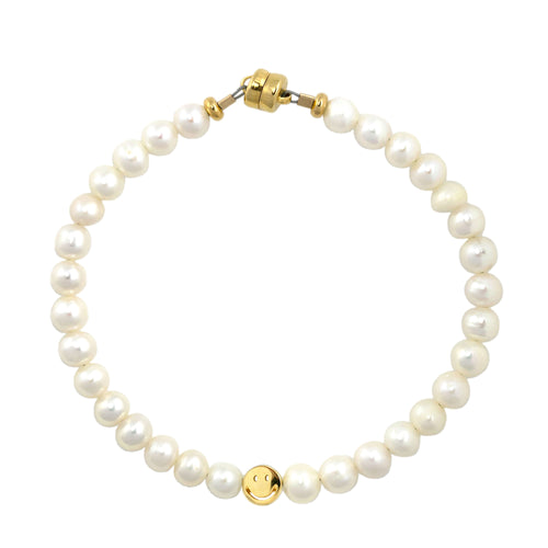 Freshwater Pearl Smiley Beaded Bracelet