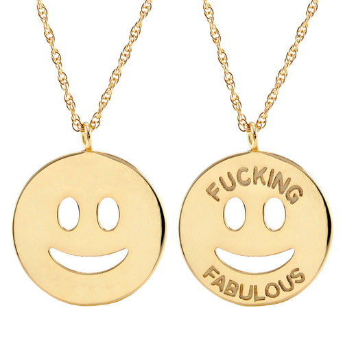F-ing Fabulous Smiley Charm Necklace