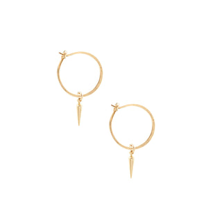 Small Hoop Earrings with Petite Spikes