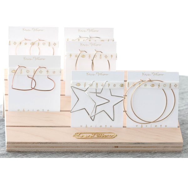 Hoop Earrings Display