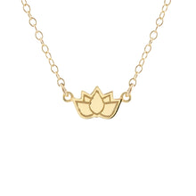 Load image into Gallery viewer, Lotus Flower Charm Necklace