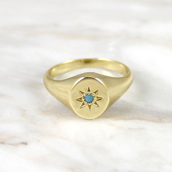 Signet Ring with Turquoise