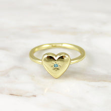 Load image into Gallery viewer, Heart with Turquoise Ring