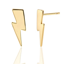 Load image into Gallery viewer, Oversized Lightning Bolt Stud Earrings