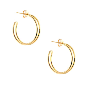 Double Hoop Earrings Small