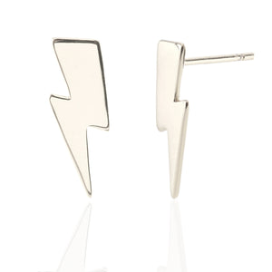 Oversized Lightning Bolt Stud Earrings