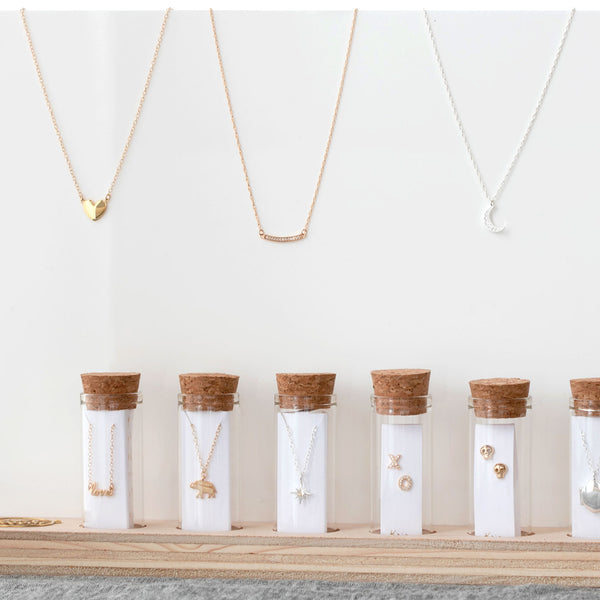 Acrylic & Wood Necklace Display