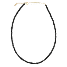Load image into Gallery viewer, Black Spinel Faceted Gemstone Beaded Necklace