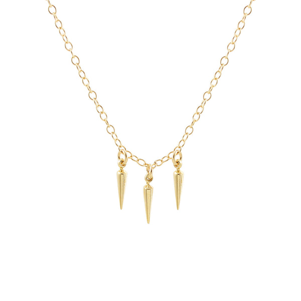 3 Petite Spike Necklace