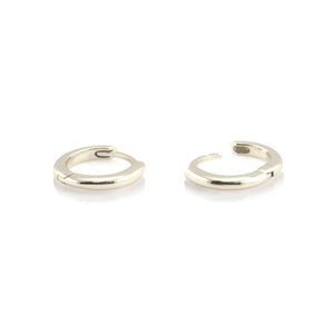 Classic Hinged Huggie Hoop Earrings