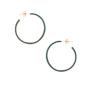 Enamel Hoop Earring Small