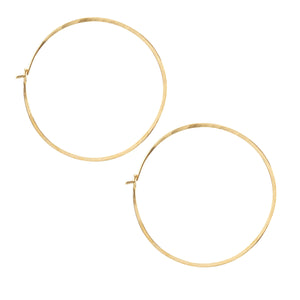 Medium Simple Hoop Earrings