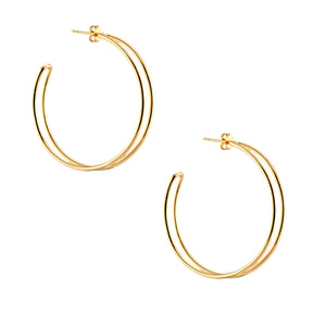 Double Hoop Earrings Large