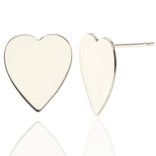 Load image into Gallery viewer, Oversized Heart Stud Earrings