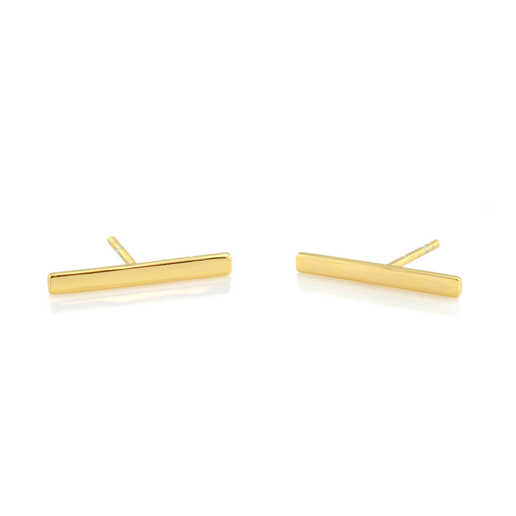 Long Bar Stud Earrings