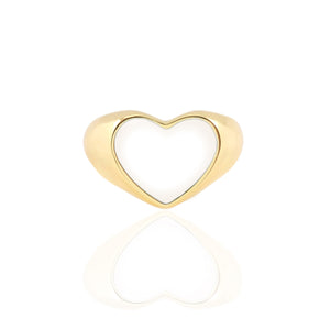 Heart Enamel Signet Ring New Colors!