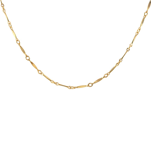 Diamond Shape Bar Chain Choker