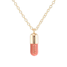 Load image into Gallery viewer, Chill Pill Charm Necklace New Colors!